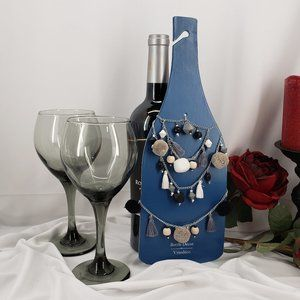 Pier 1 Wine Bottle Decor & 2 Wine Glasses 🍷 NWT